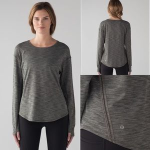 'Lost In Pace' Long Sleeve—Heathered Dark Olive